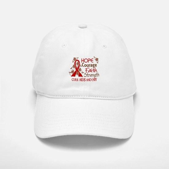 Hope Courage Faith AIDS Hat