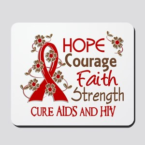 Hope Courage Faith AIDS Mousepad