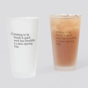 Aristotle Wishing to be frien Drinking Glass