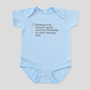 Aristotle Wishing to be frien Infant Bodysuit