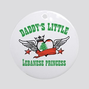 Daddy's Little Lebanese Princess Ornament (Round)