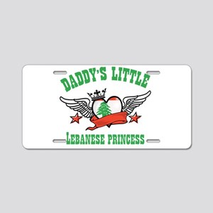 Daddy's Little Lebanese Princess Aluminum License