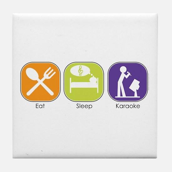 Eat Sleep Karaoke Tile Coaster