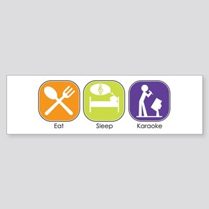 Eat Sleep Karaoke Bumper Sticker