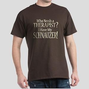 THERAPIST Schnauzer Dark T-Shirt