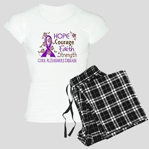 Hope Courage Faith Alzheimers Women's Light Pajama