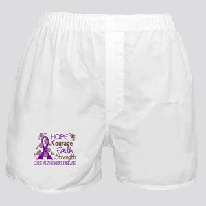 Hope Courage Faith Alzheimers Boxer Shorts