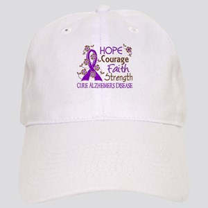 Hope Courage Faith Alzheimers Cap