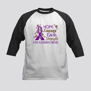 Hope Courage Faith Alzheimers Kids Baseball Jersey