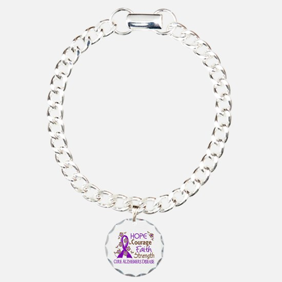 Hope Courage Faith Alzheimers Bracelet