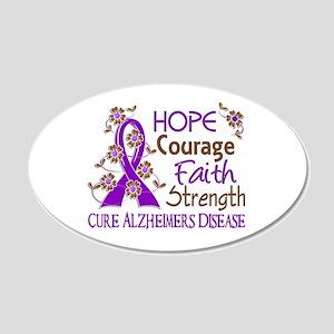 Hope Courage Faith Alzheimers 22x14 Oval Wall Peel