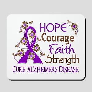 Hope Courage Faith Alzheimers Mousepad