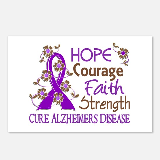Hope Courage Faith Alzheimers Postcards (Package o