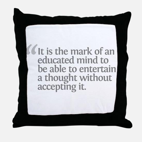 Aristotle It is the mark Throw Pillow