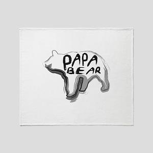 Artistic Papa Bear Design Throw Blanket