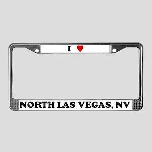 I Love North Las Vegas License Plate Frame