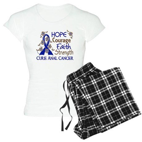 Hope Courage Faith Anal Cancer Women's Light Pajam