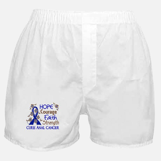Hope Courage Faith Anal Cancer Boxer Shorts