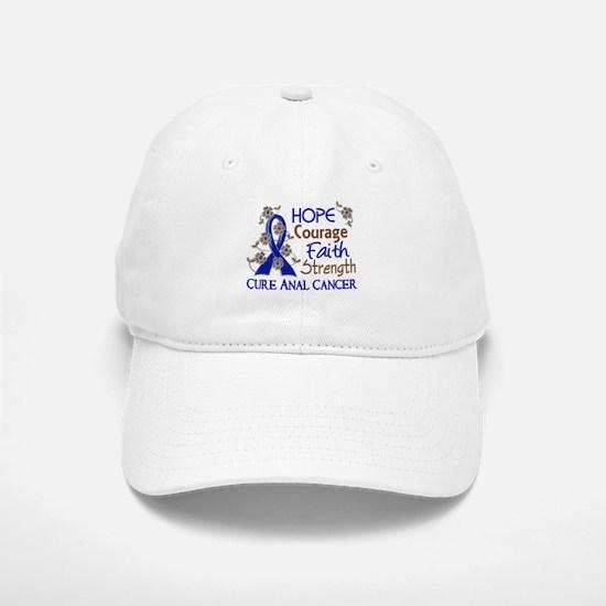 Hope Courage Faith Anal Cancer Baseball Baseball Cap