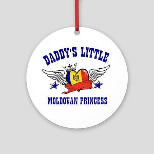 Daddy's Little Moldovan Princess Ornament (Round)