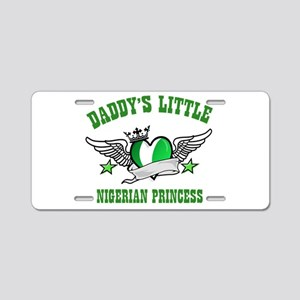 Daddy's Little Nigerian Princess Aluminum License