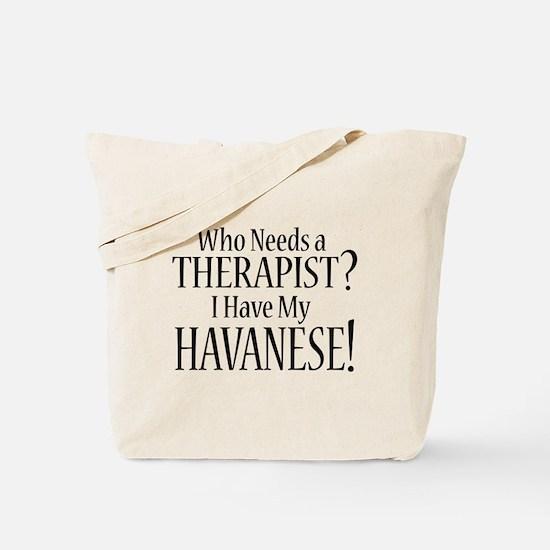 THERAPIST Havanese Tote Bag