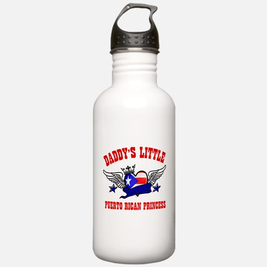 Daddy's Little Puerto-rican Princess Water Bottle