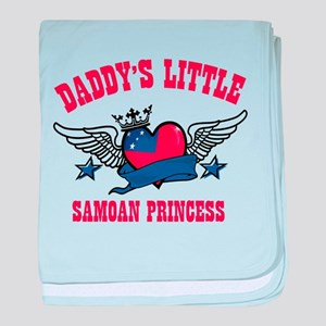 Daddy's Little Samoan Princess baby blanket