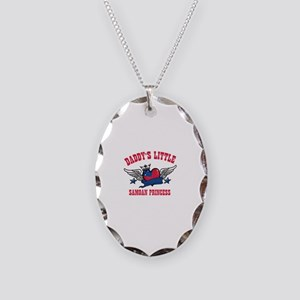 Daddy's Little Samoan Princess Necklace Oval Charm