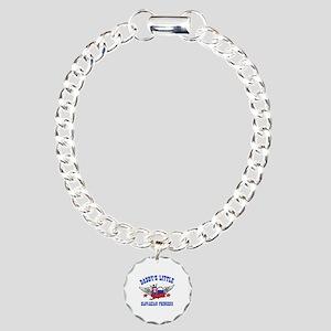 Daddy's Little Slovakian Princess Charm Bracelet,