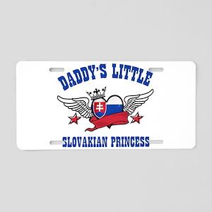 Daddy's Little Slovakian Princess Aluminum License