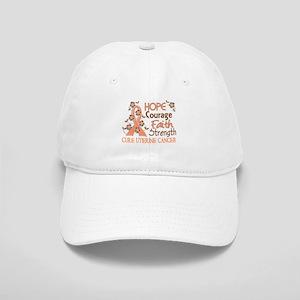 Hope Courage Faith Uterine Cancer Shirts Cap
