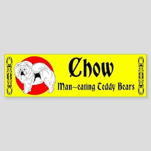 Man-eating Teddy Bears Sticker (Bumper)