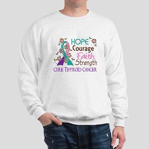 Hope Courage Faith Thyroid Cancer Shirts Sweatshir
