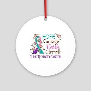 Hope Courage Faith Thyroid Cancer Shirts Ornament