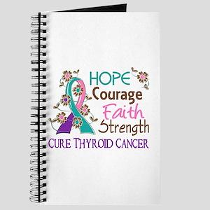 Hope Courage Faith Thyroid Cancer Shirts Journal