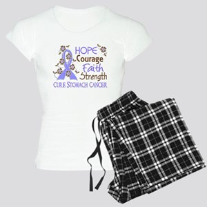 Hope Courage Faith Stomach Cancer Shirts Women's L