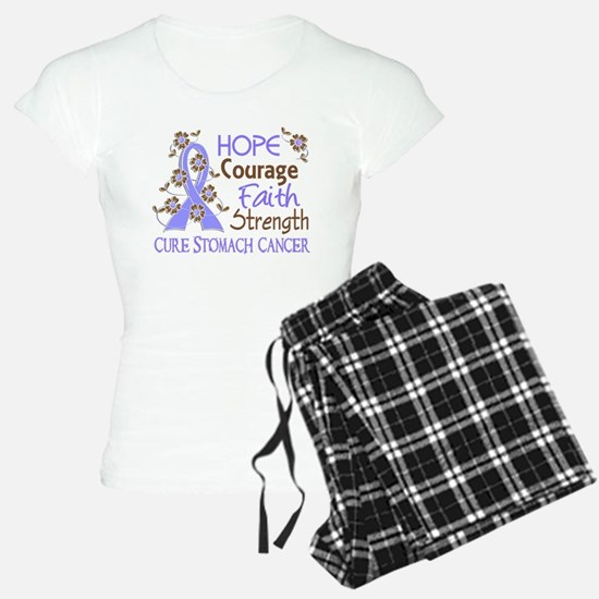 Hope Courage Faith Stomach Cancer Shirts Pajamas