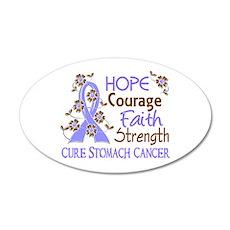 Hope Courage Faith Stomach Cancer Shirts 22x14 Ova