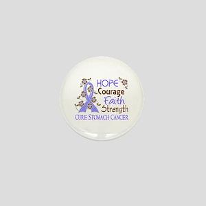 Hope Courage Faith Stomach Cancer Shirts Mini Butt