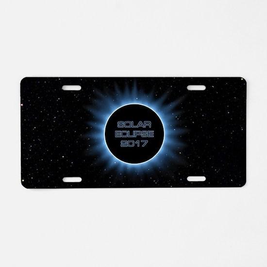 Solar Eclipse 2017 Aluminum License Plate