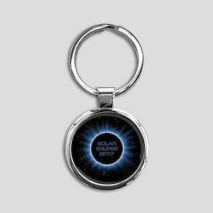 Solar Eclipse 2017 Round Keychain
