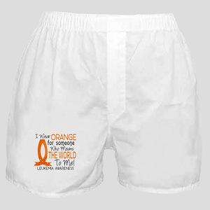 Means World To Me 1 Leukemia Boxer Shorts