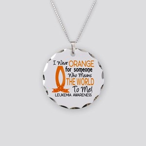 Means World To Me 1 Leukemia Necklace Circle Charm