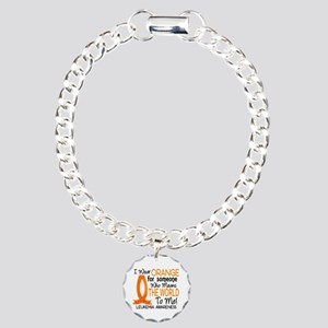 Means World To Me 1 Leukemia Charm Bracelet, One C