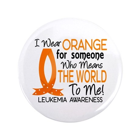 "Means World To Me 1 Leukemia 3.5"" Button (100 pack"