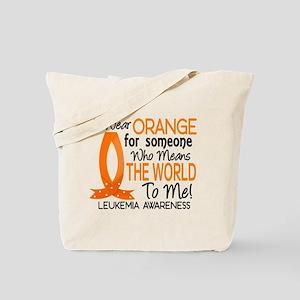 Means World To Me 1 Leukemia Tote Bag