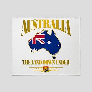 """""""Land Down Under"""" Throw Blanket"""