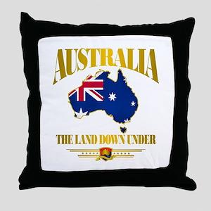"""Land Down Under"" Throw Pillow"