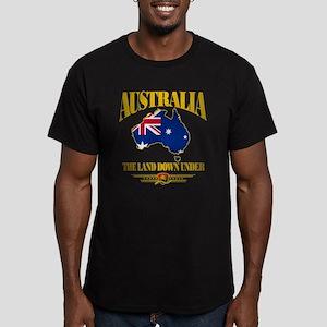 """""""Land Down Under"""" Men's Fitted T-Shirt (dark)"""